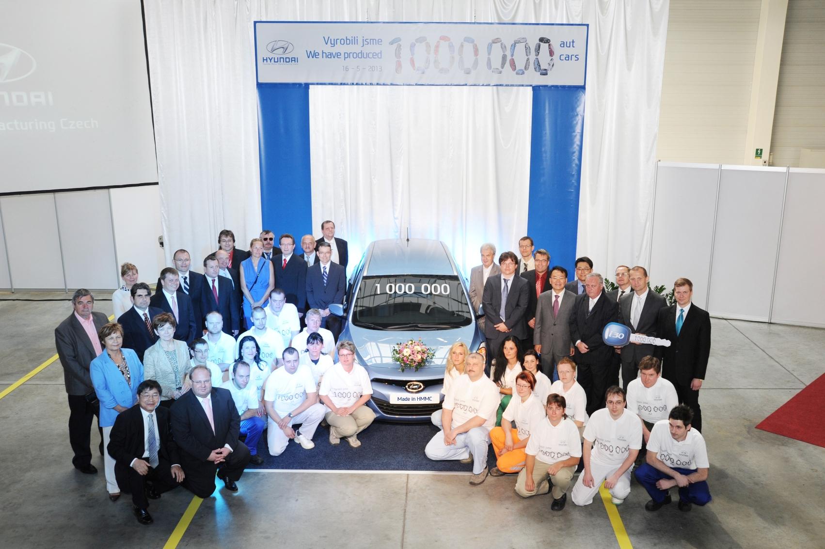 Hyundai Motor proizveo svoje milionito vozilo u fabrici u Češkoj