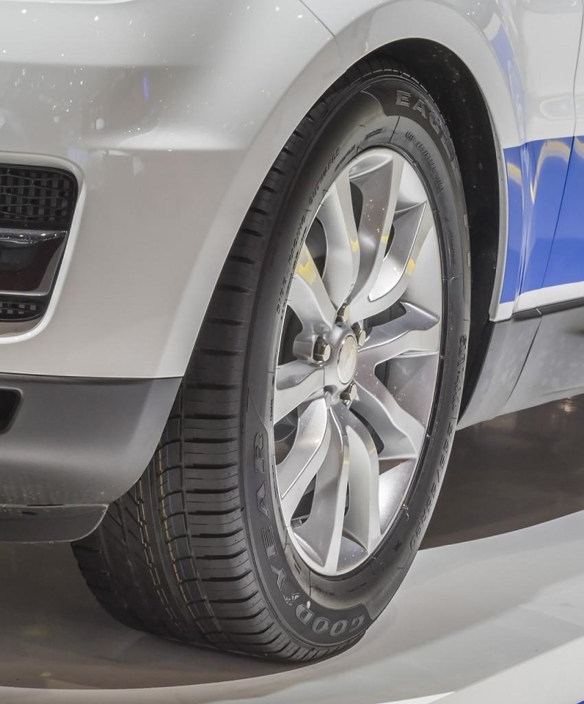 Pneumatici Goodyear Eagle F1 Asymmetric SUV izvanredno dopunjavaju okretnost i dinamičnost vozila Range Rover Sport 2014