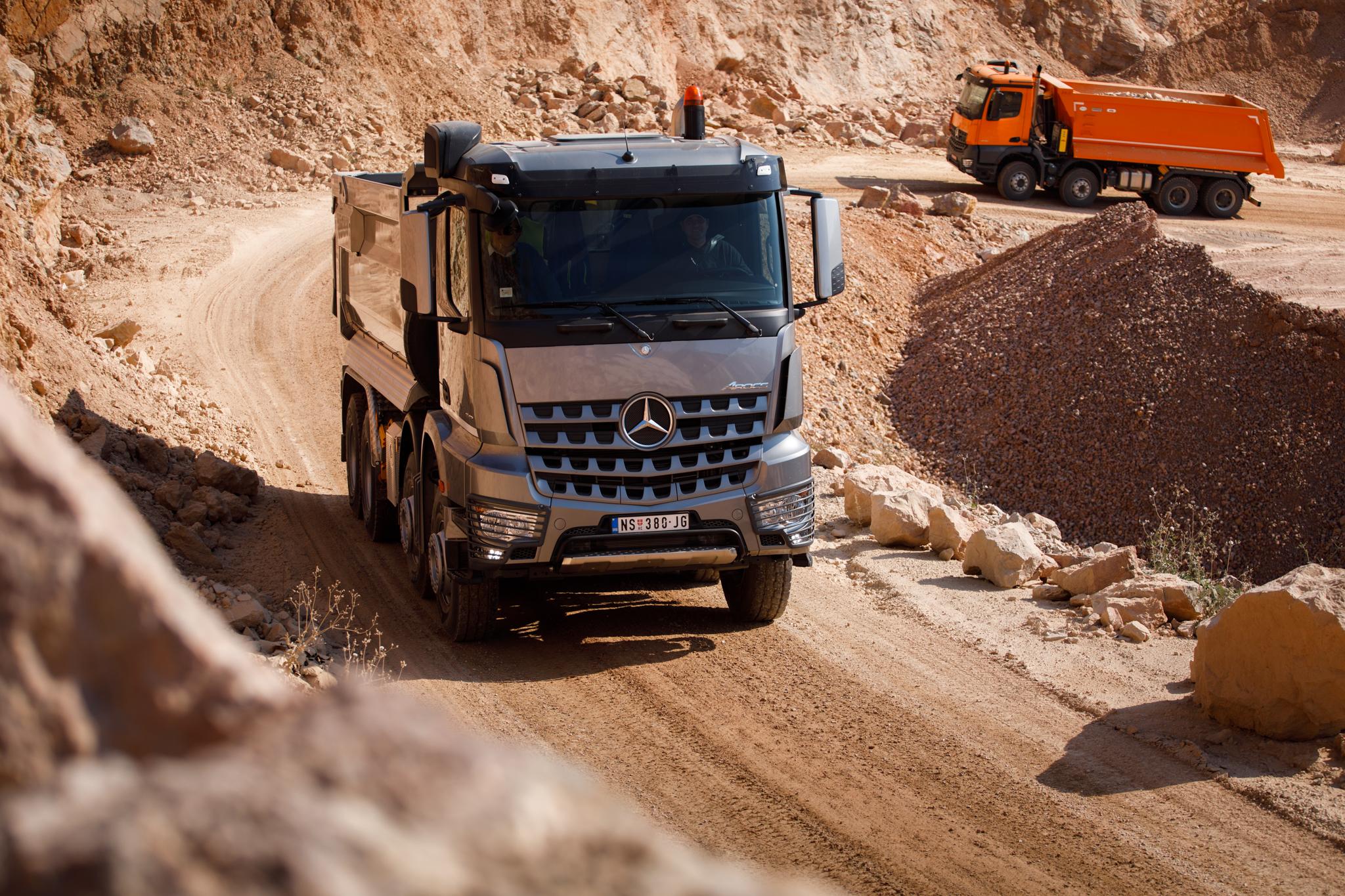 Prezentacija kamiona Mercedes-Benz Arocs u Srbiji