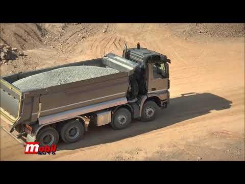 MOBIL AUTO TV – Mercedes Benz Arocs – Prezentacija kamiona u kamenolomu