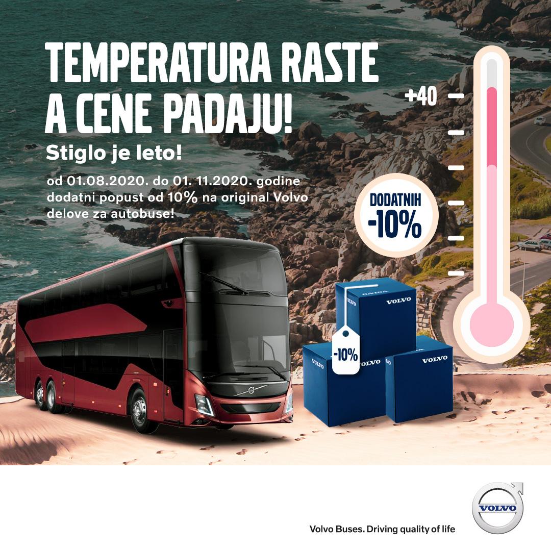 Dodatni popust od 10 odsto na originalne delove za Volvo autobuse